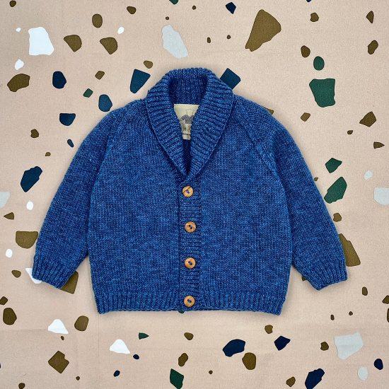 Baby cardigan WESELY handknitted of merino wool VAN BEREN