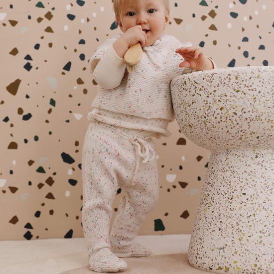 Baby leggings EDWARD handknitted of virgin merino wool VAN BEREN