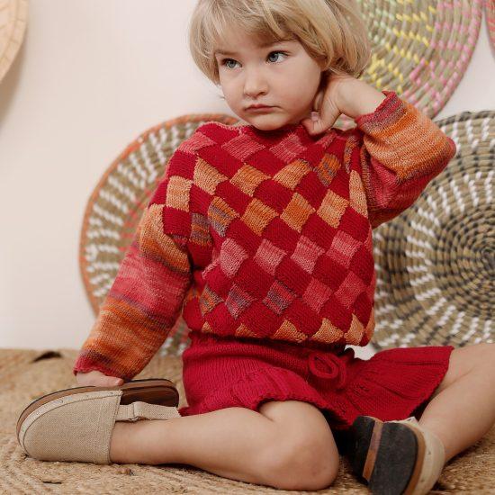 Knit sweater CHRISTIN handmade in Austria of organic cotton yarn VAN BEREN