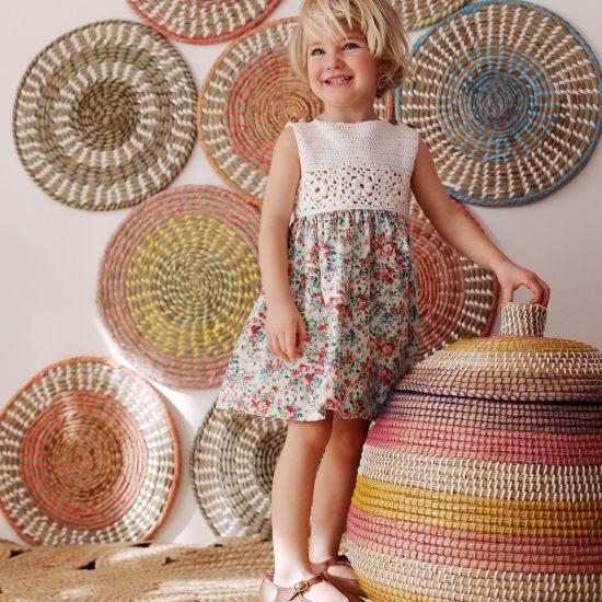 Dress HEIDI handmade of organic cotton yarn in Austria VAN BEREN