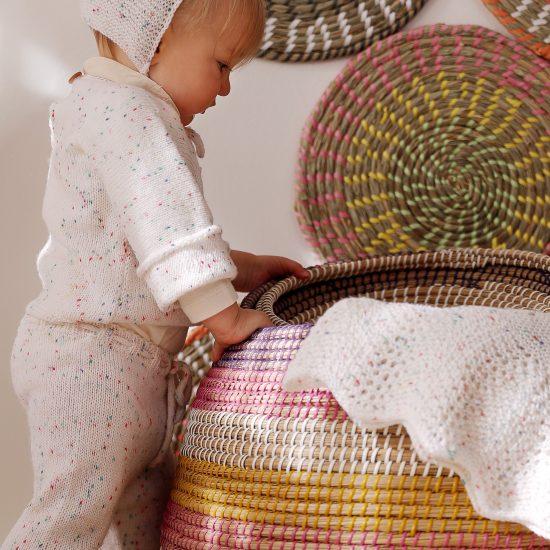 Baby blanket VIRGINIA handmade in Austria of virgin merino wool VAN BEREN