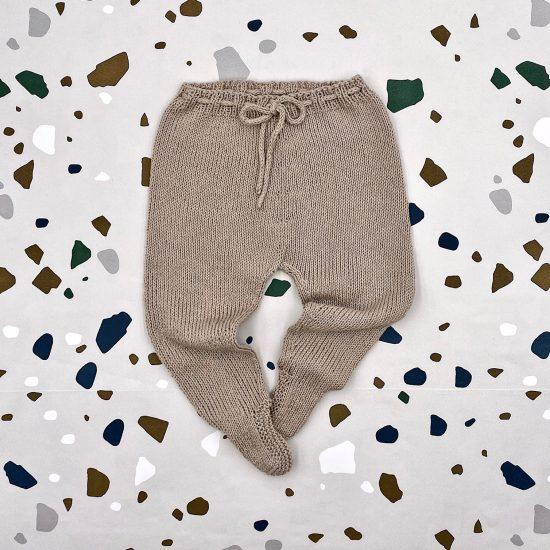 Knit leggings ESKIL handmade in Austria of organic cotton yarn VAN BEREN