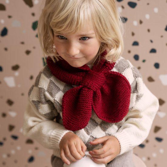 Knit scarf LIONEL handmade in Austria VAN BEREN