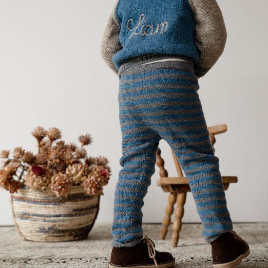 Knit leggings FREDERICK handknitted of virgin merino wool VAN BEREN