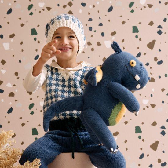 Knit dragon DARCO handmade of merino wool VAN BEREN