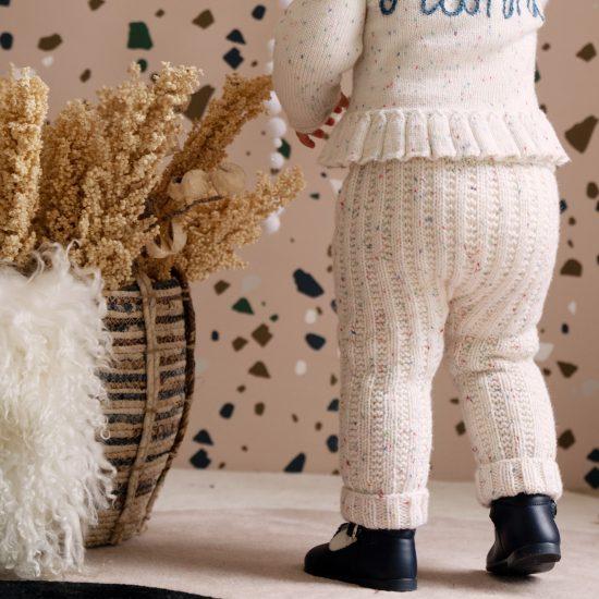 Knit leggings OPHELIA handmade of virgin merino wool VAN BEREN