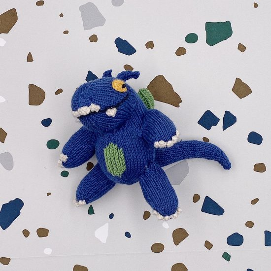 Knit dragon CYRIL handmade of merino wool VAN BEREN