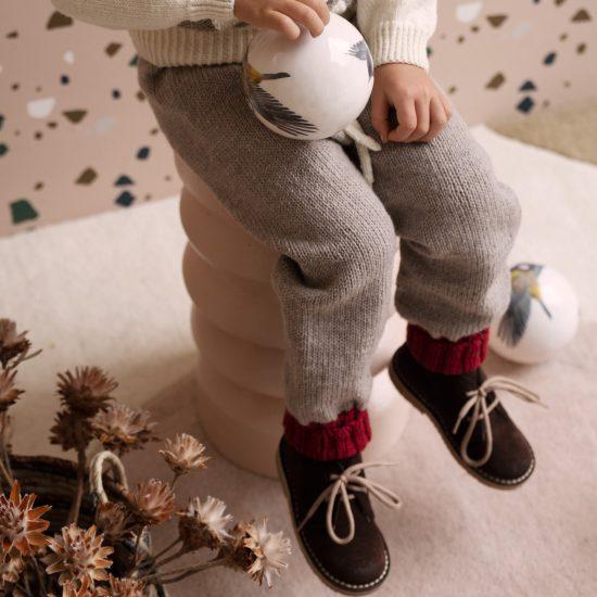 knit legging MAGNUS handmade of virgin merino wool VAN BEREN