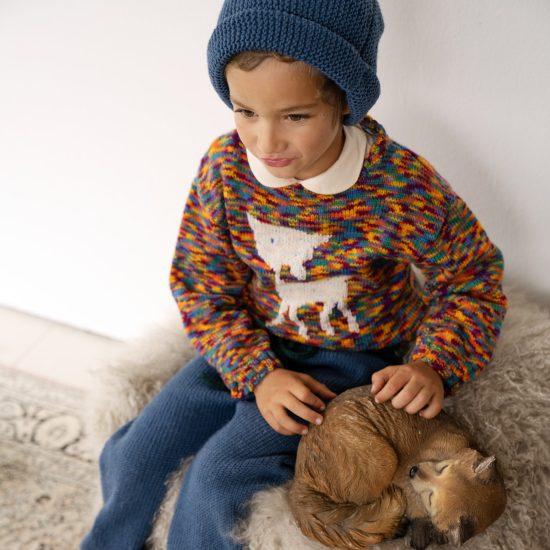 Knit sweater AUGUST handmade of virgin merino wool VAN BEREN