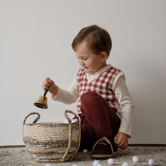 Knit leggings ISAAC handmade in Austria of organic cotton yarn VAN BEREN